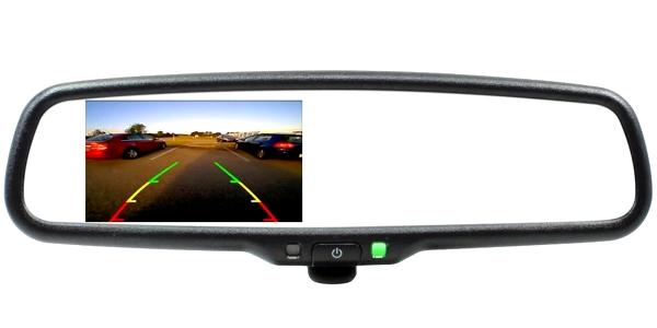 Comtruk rear vision camera display with mirror
