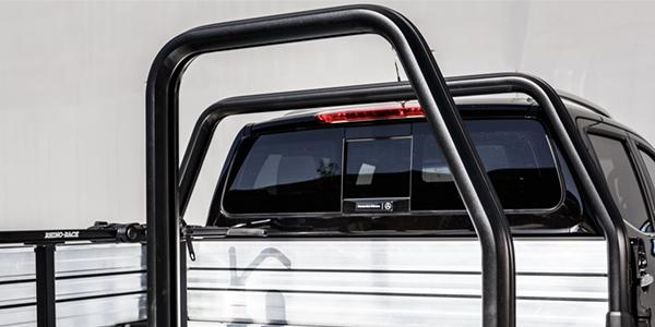 Comtruk adjustable half aluminium rack in black powder coat