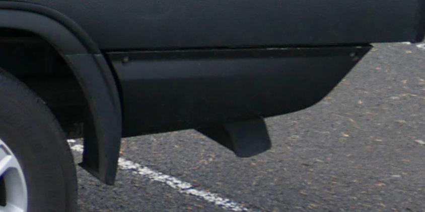 Comtruk storage drawer installed under the SUB in powder coat black