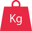 icon illustrating the weight capacity of the SUB