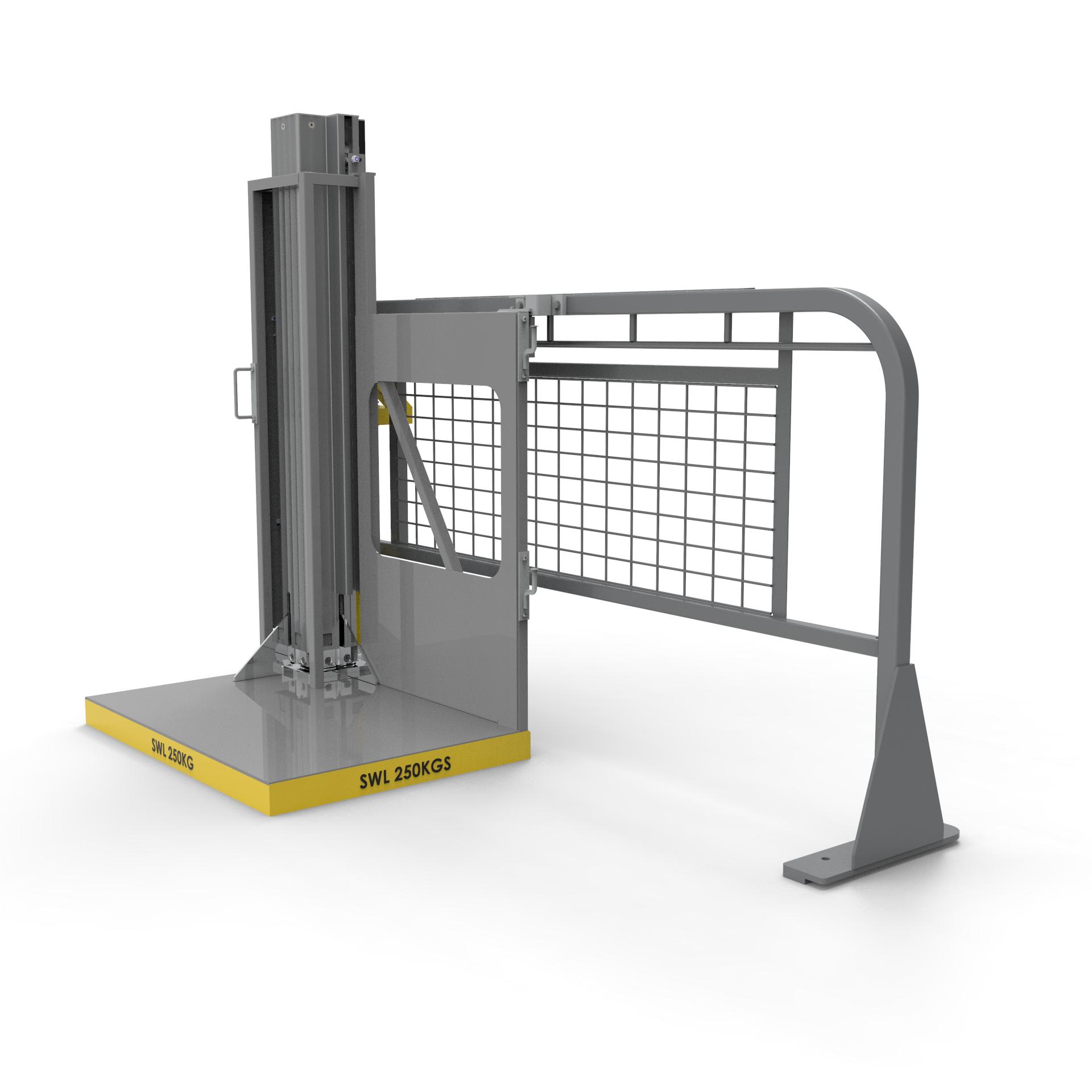 corner view of EZ Lift-N-Load side lifter