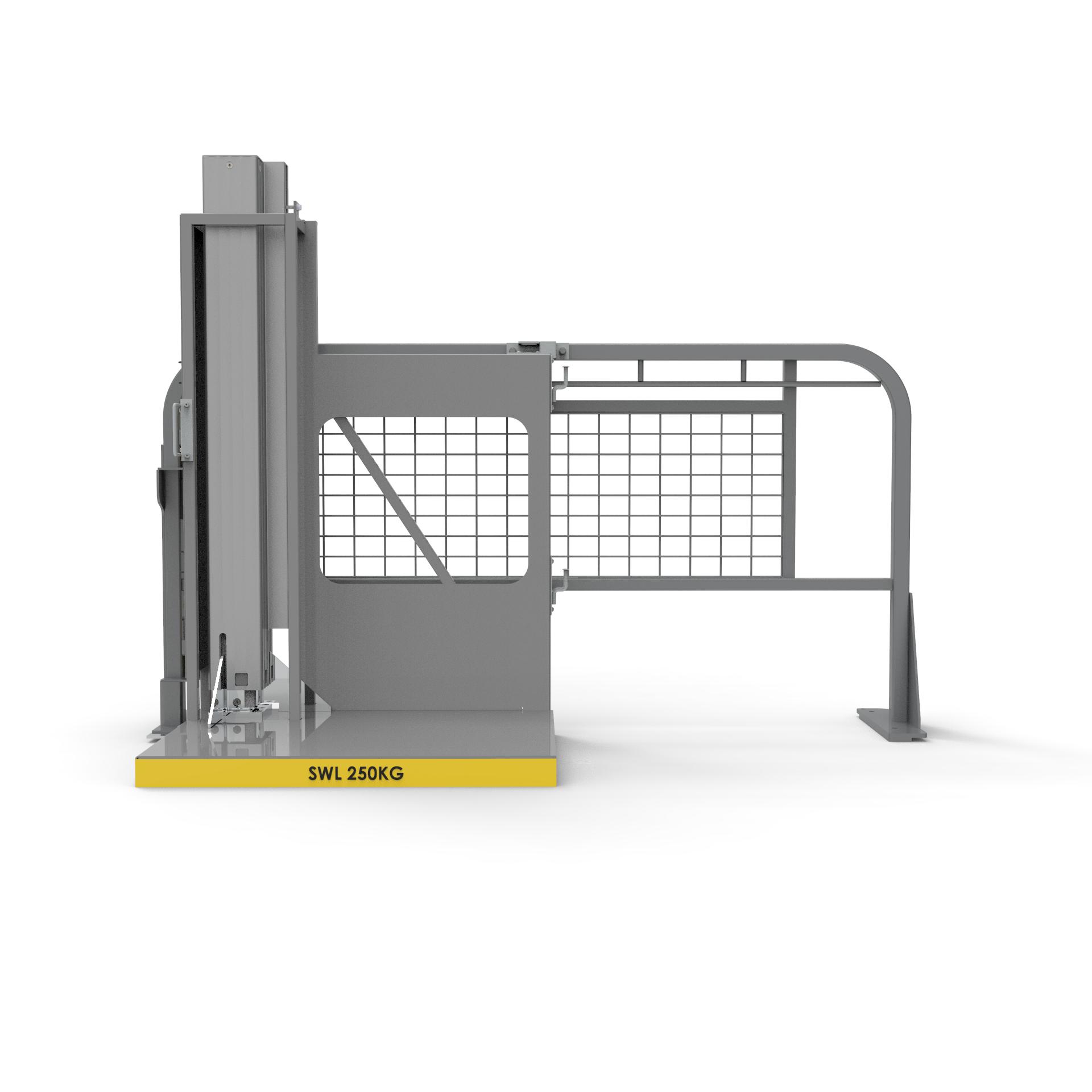 Rear view of EZ Lift-N-Load side lifter