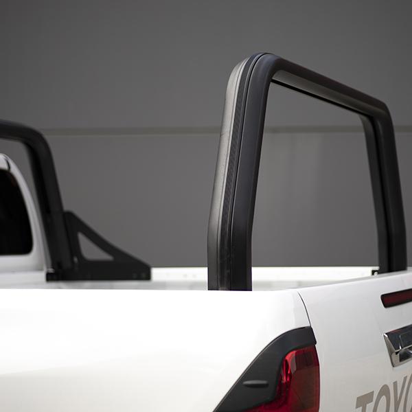 XT150 rear rack bar installed on Toyota HiLux