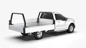 Comtruk ute tray installed with XT150 rack bars