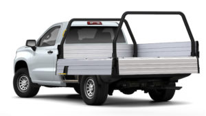 Comtruk ute tray with step and handle