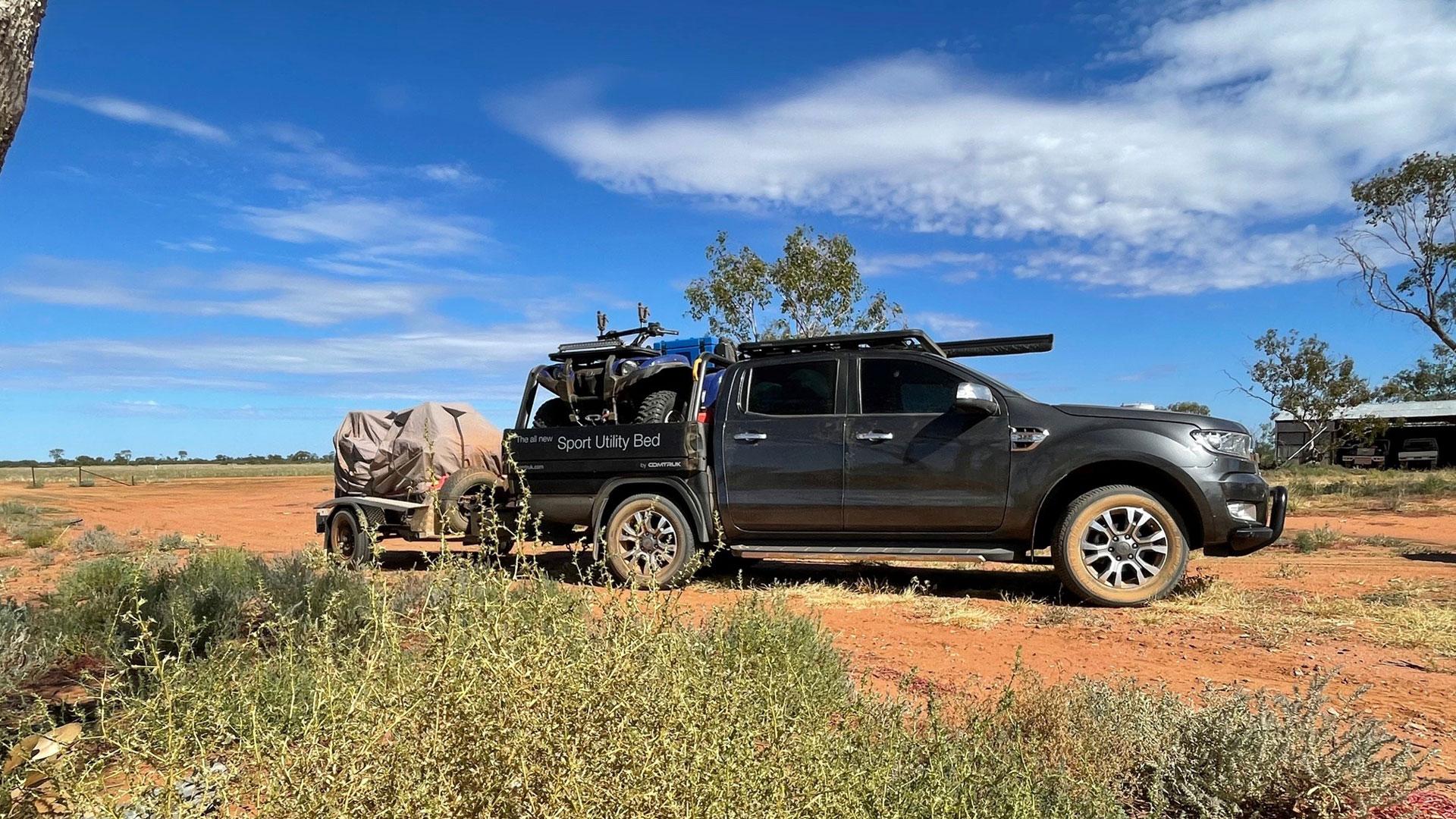 SUB alloy tray hauling an ATV