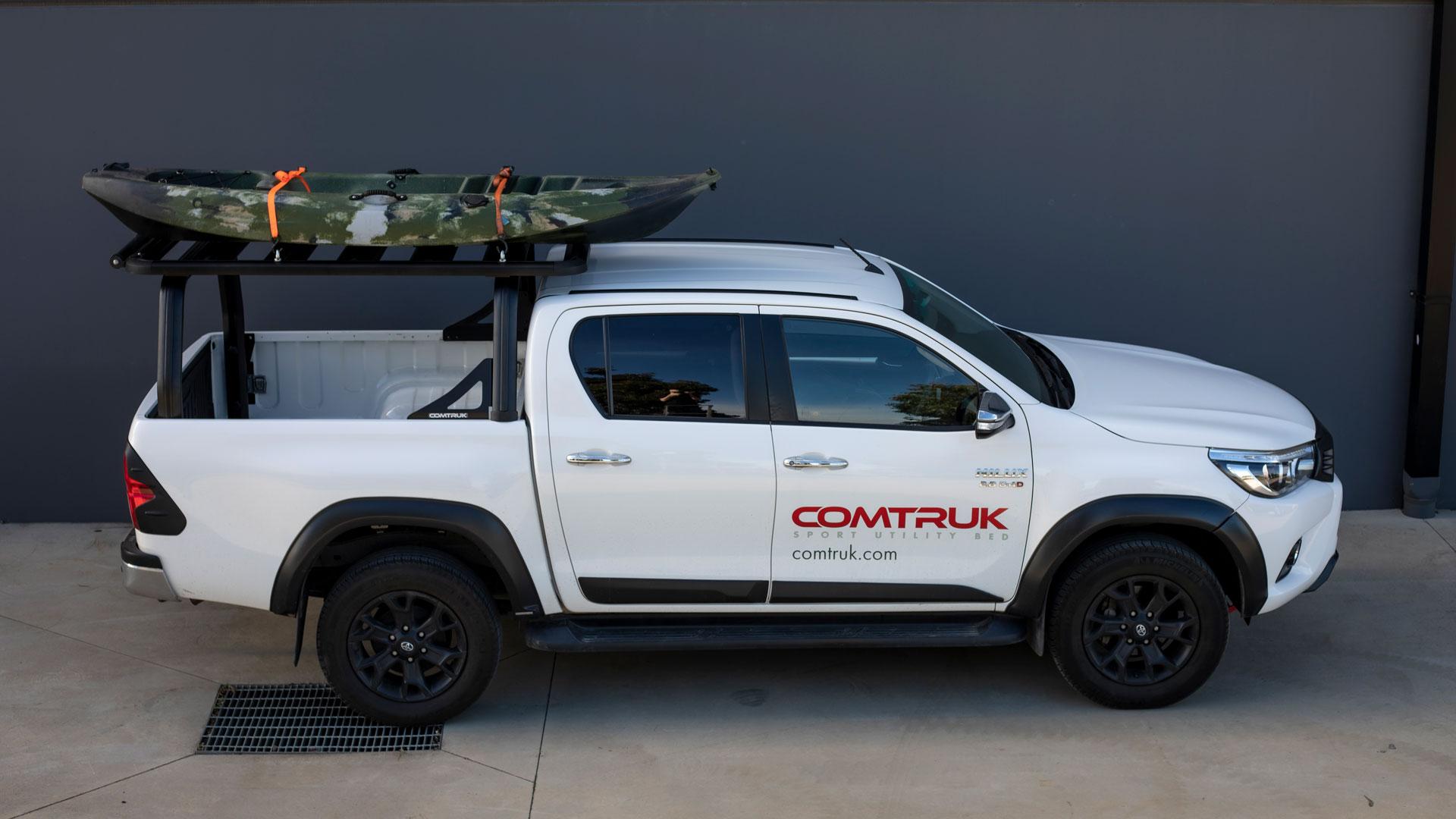 Toyota HiLux featuring HD150 platform rack