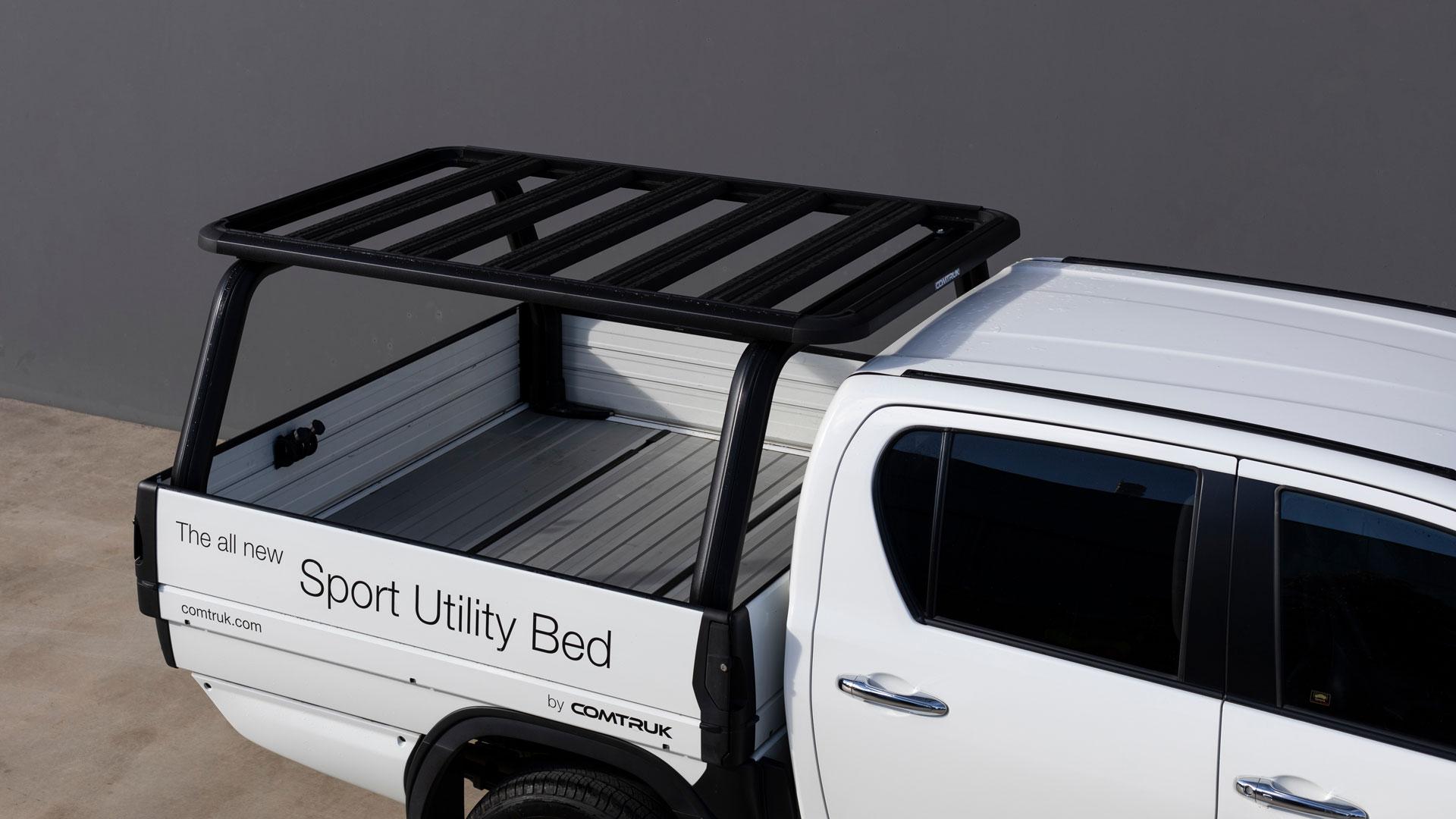 SUB and HD150 platform rack on Toyota HiLux