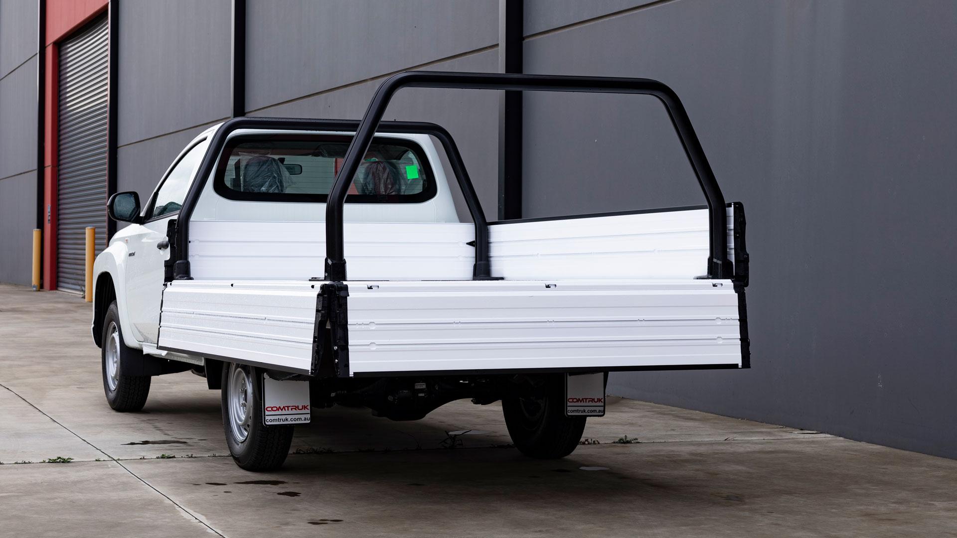 SUB alloy tray on Mitsubishi
