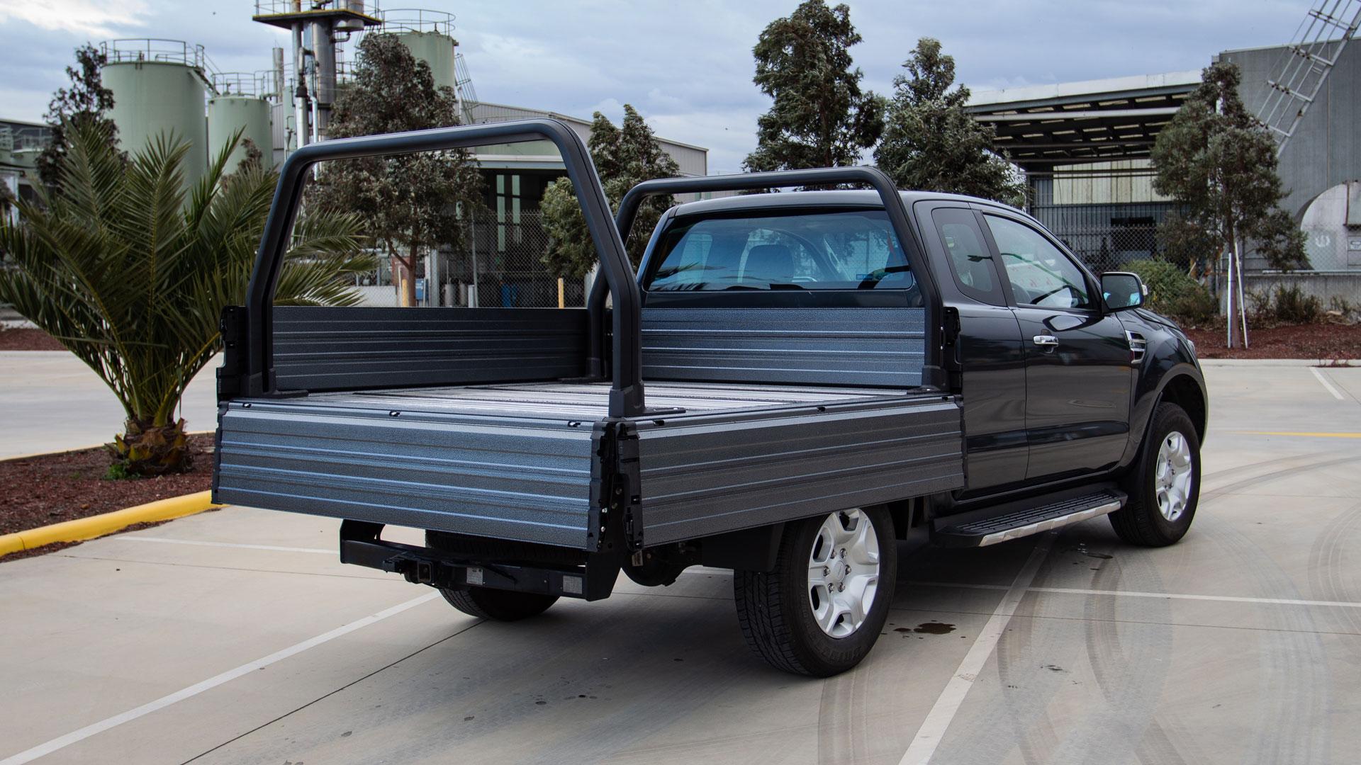 Ford Ranger SUB alloyt tray with grey finish