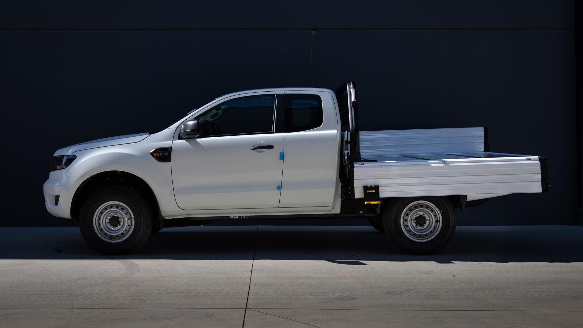 white finish SUB alloy tray on Ford Ranger