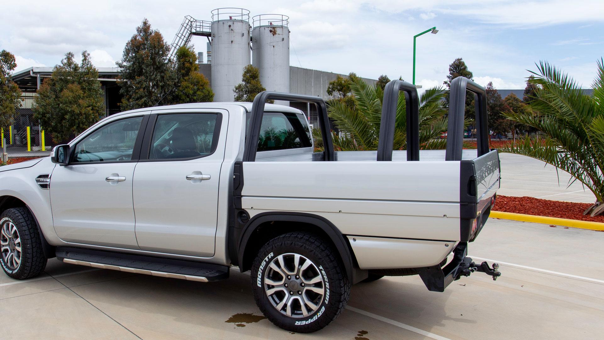 SUB alloyt tray on a grey Ford Ranger