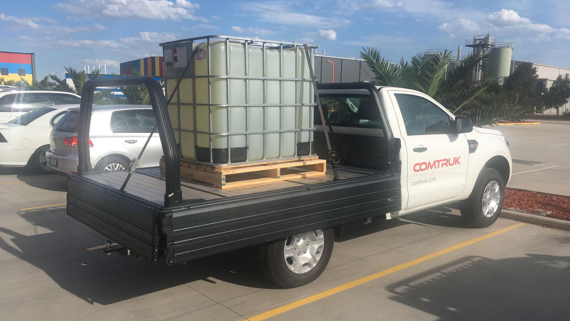 Alloy tray loaded for heavy hauling