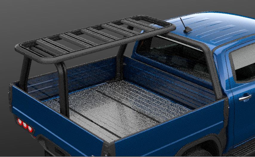 Ford Ranger with half platform rack